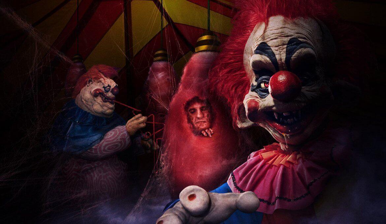 Atração de Palhaços Assassinos no Halloween da Universal Orlando em 2019