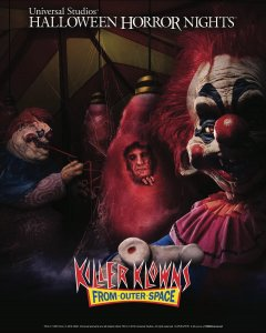 Atração de Palhaços Assassinos no Halloween da Universal Orlando em 2019: Killer Klowns from Outer Space