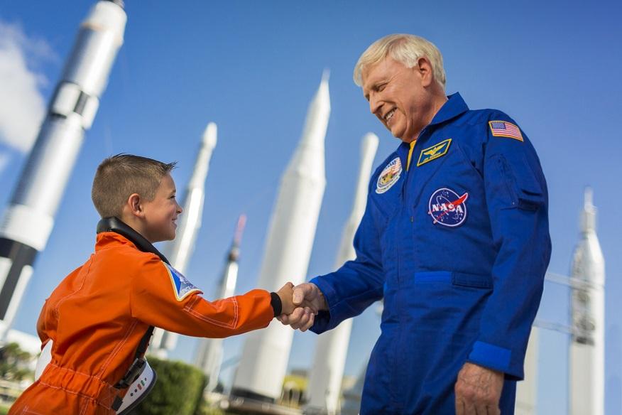 Almoço com astronauta da NASA em Orlando: NASA Kennedy Space Center: astronauta