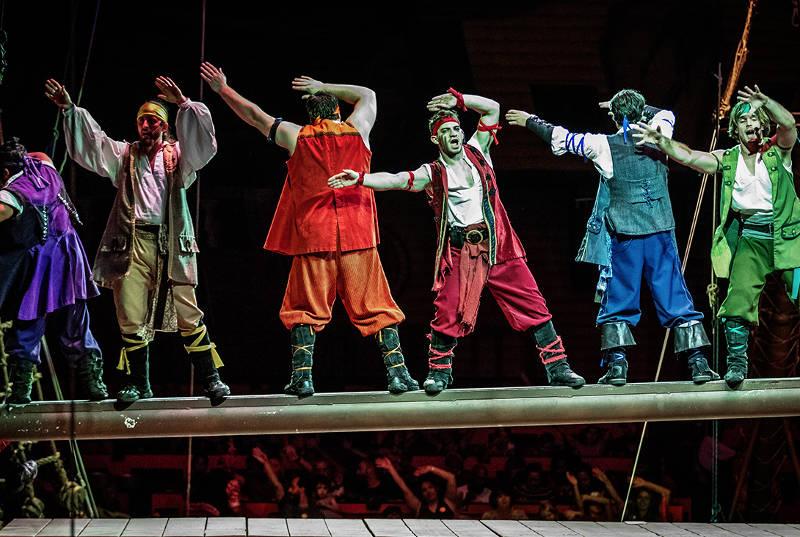 Jantar e show Pirates Dinner Adventure em Orlando: espetáculo