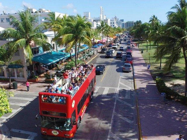Passeio de ônibus por Miami