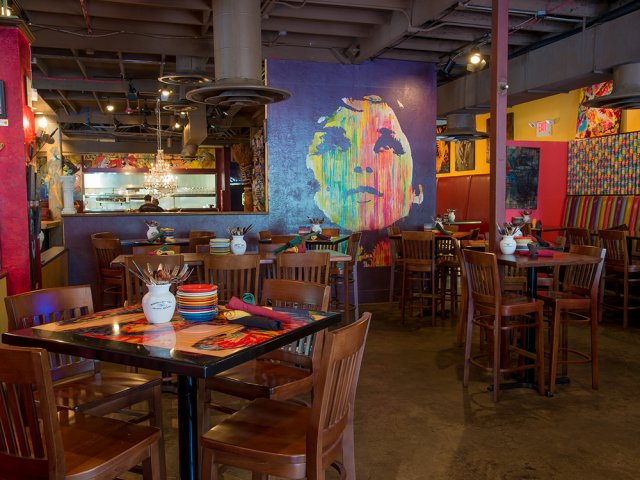 Restaurantes mexicanos em Orlando: interior Café Tu Tu Tango