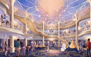Cruzeiro Disney Wish e nova ilha nas Bahamas: interior do navio