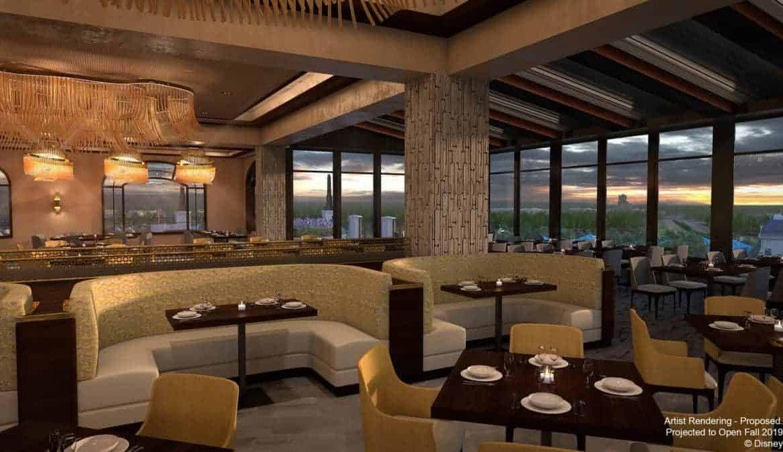 Restaurante Topolino's Terrace – Flavors of Riviera na Disney Orlando: interior